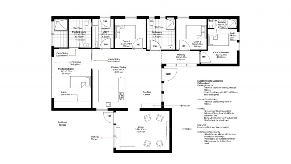 adaptable home design, universal design, floorplan