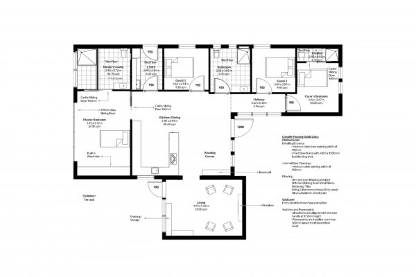 adaptable home design, universal design, floorplan