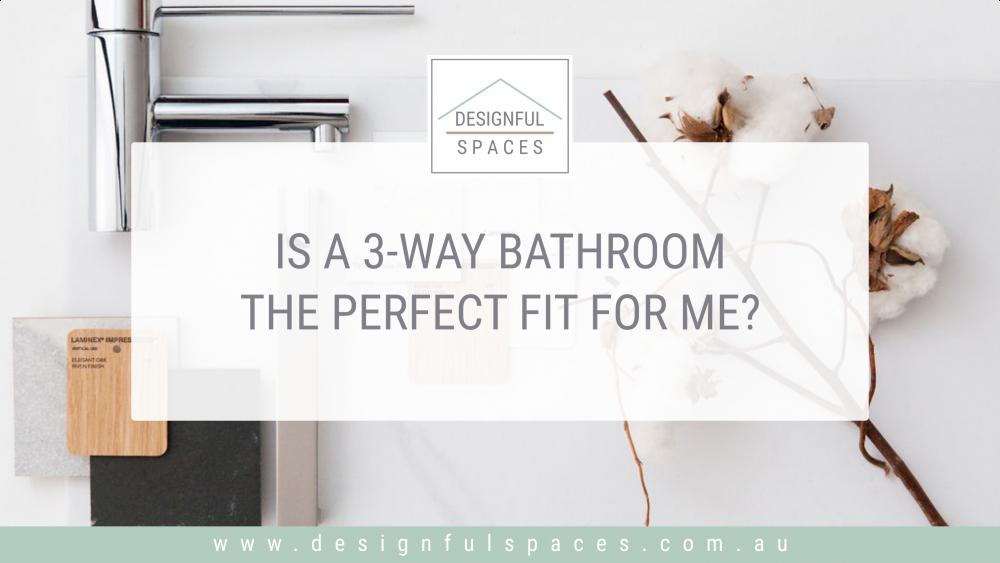 Introduces blog post 3-way bathroom