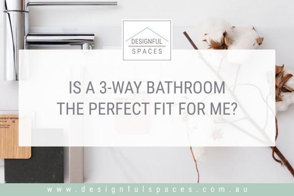 Introduces blog post 3-way bathroom